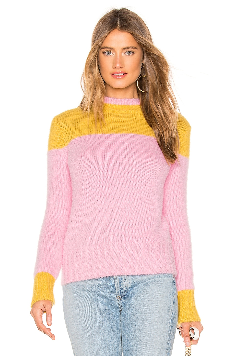 Lovers + Friends Blaire Sweater in Orange & Pink