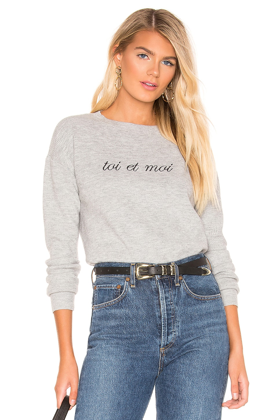 Lovers + Friends You & Me Sweater in Grey