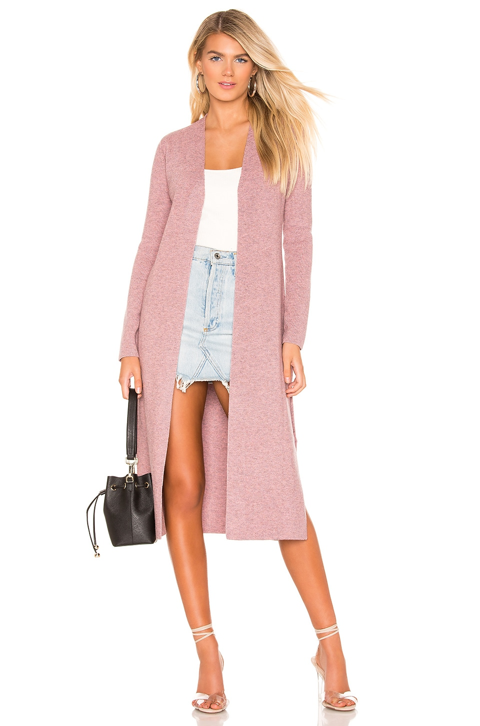 Lovers + Friends Davenport Cardigan in Heather Pink