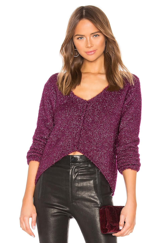 Lovers + Friends Gerona Sweater in Magenta Glitter