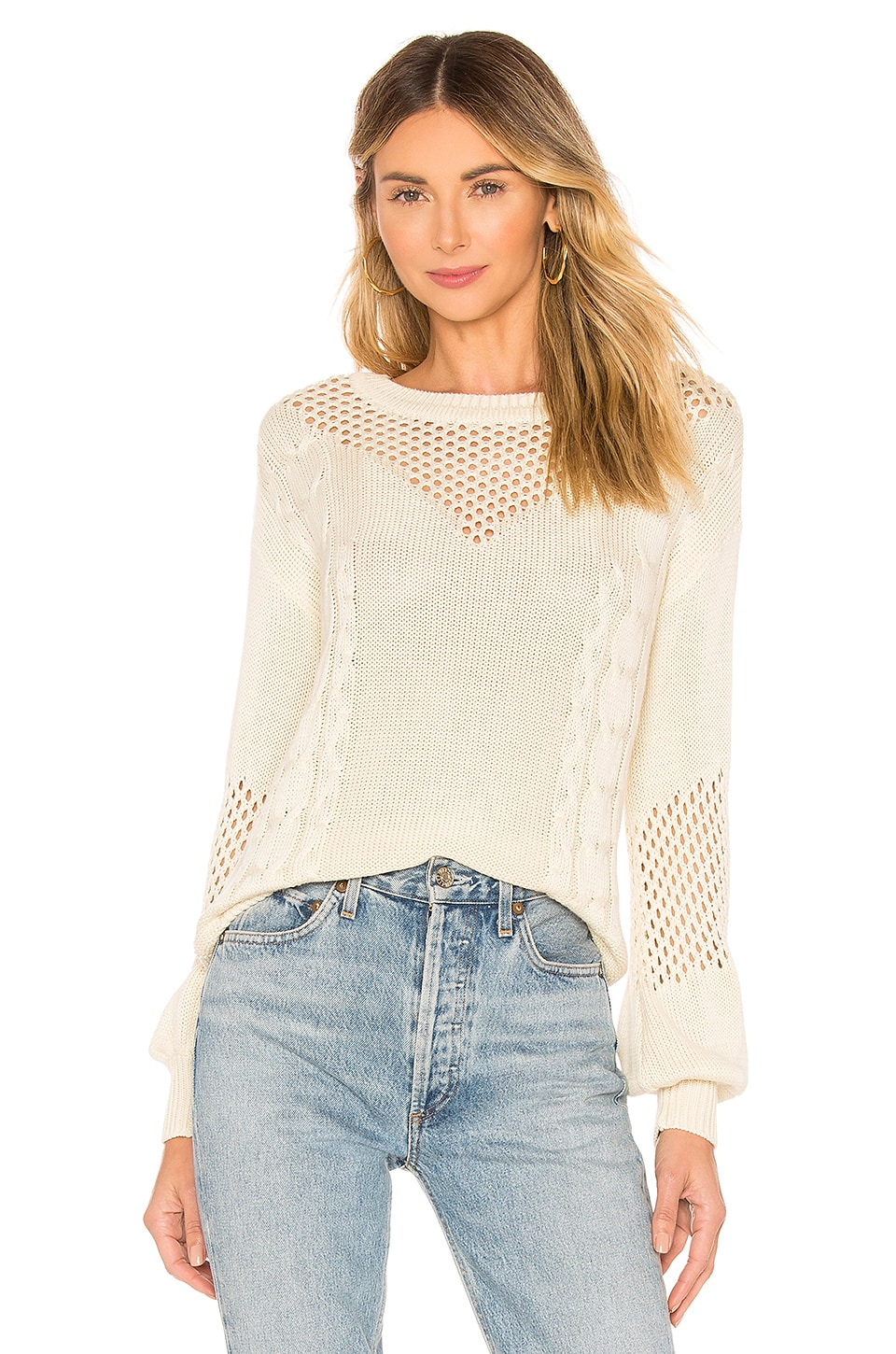 Lovers + Friends Grove Sweater in Sand