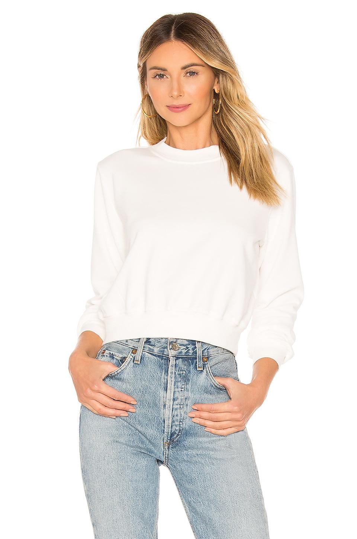 Lovers + Friends Essential Sweatshirt in White