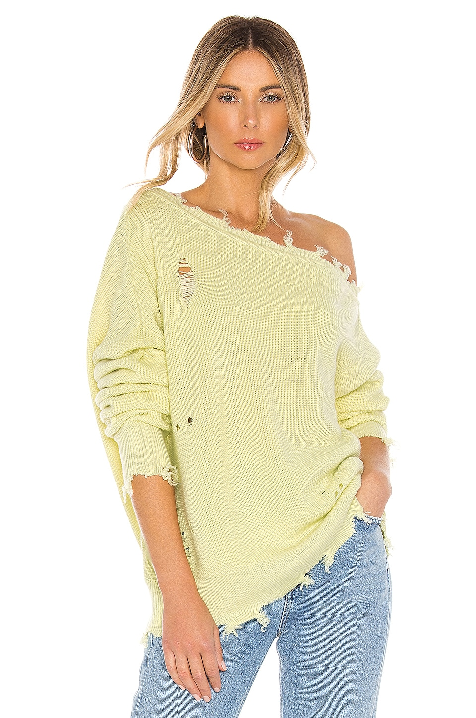 Lovers + Friends Jill Sweater in Mint