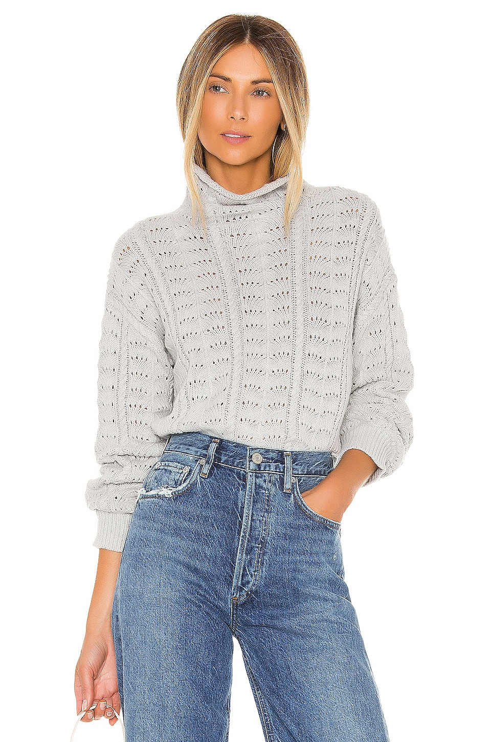 Lovers + Friends Libra Sweater in Heather Grey