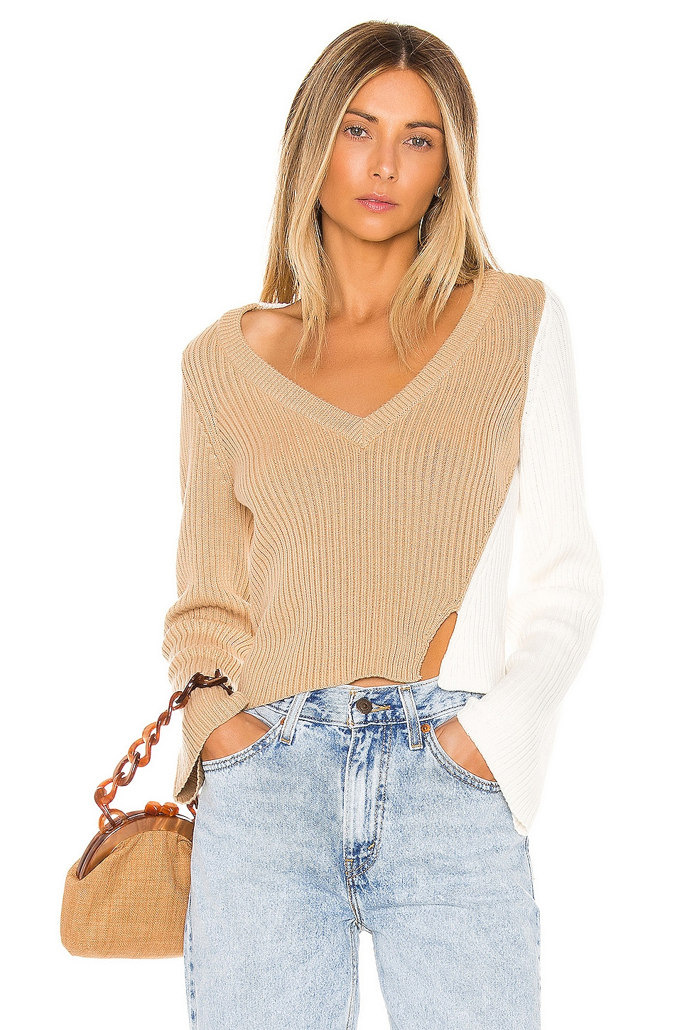 Lovers + Friends Jeanne Sweater in Nude