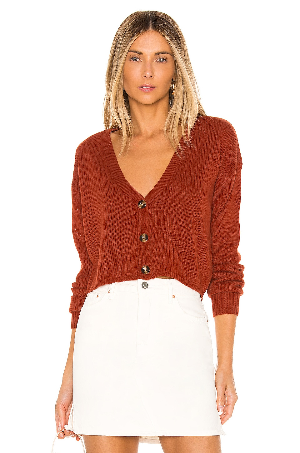 Lovers + Friends Adella Cardigan in Brick