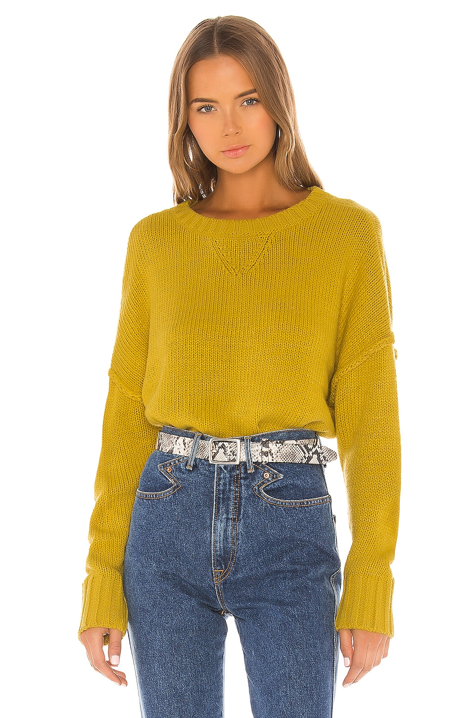 Lovers + Friends Love Stoned Sweater in Yellow