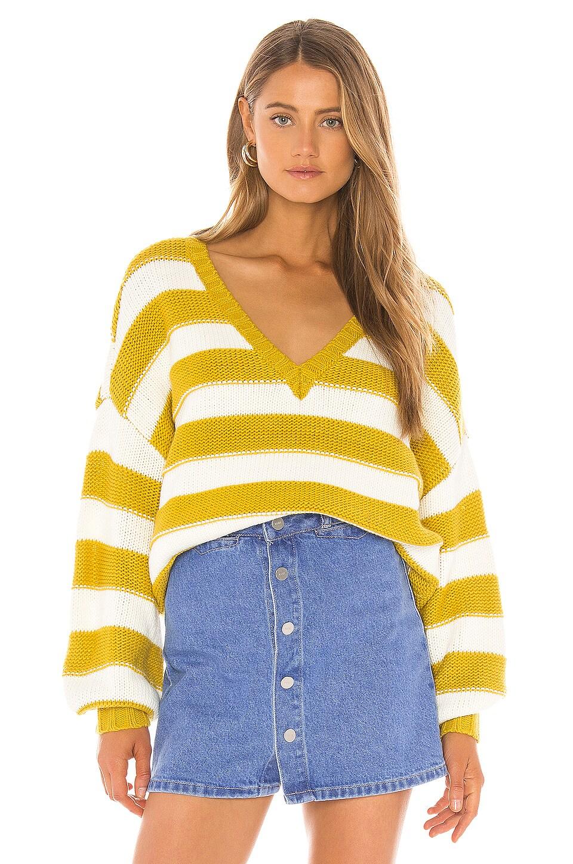 Lovers + Friends Sydney Sweater in Lemon Stripe