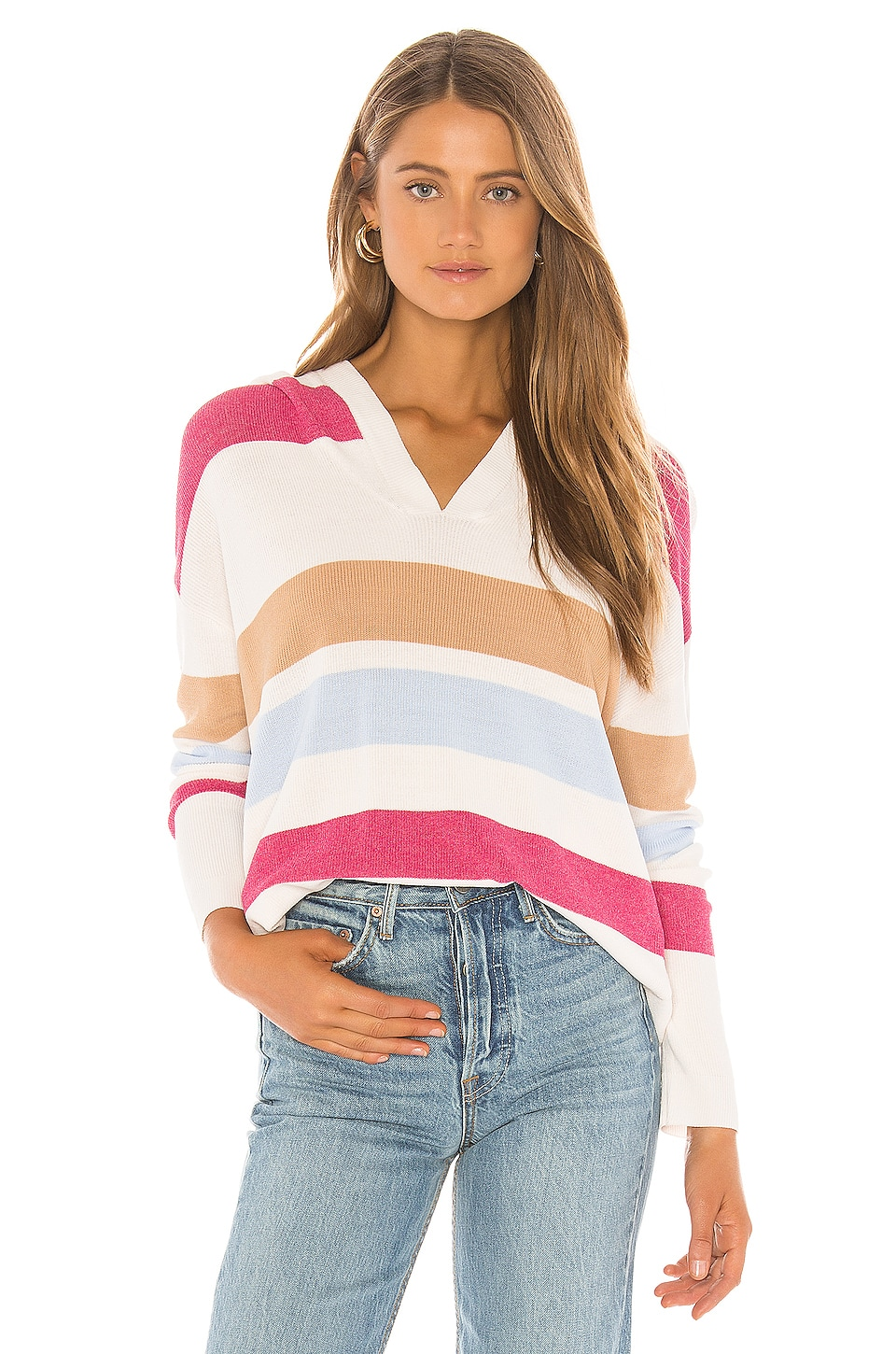 Lovers + Friends Wannabe Sweater in Native Stripe