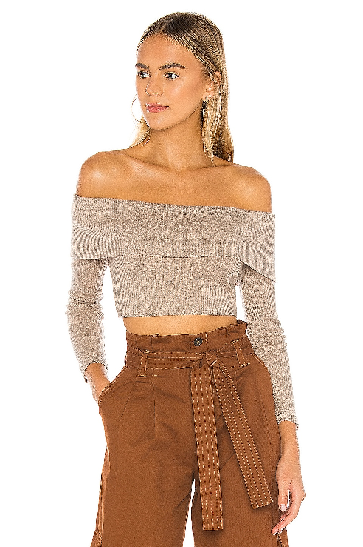 Lovers + Friends Genesis Sweater in Cobblestone Taupe
