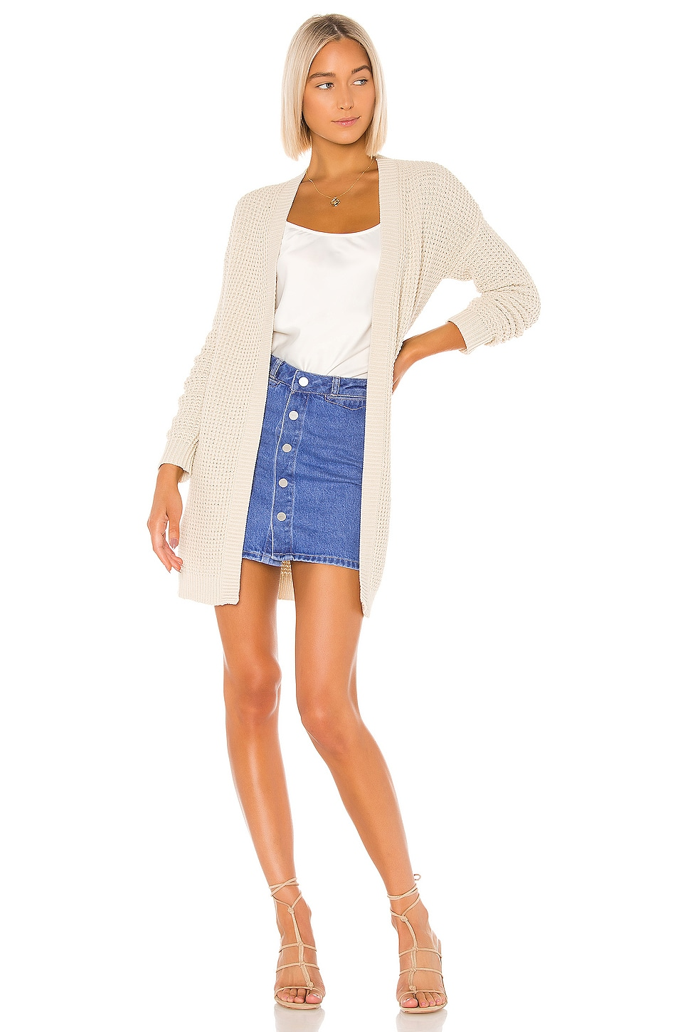 Lovers + Friends Alyn Cardigan in Sand