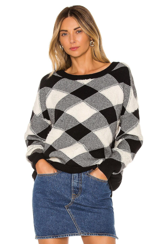 Lovers + Friends Arya Sweater in Black & Ivory
