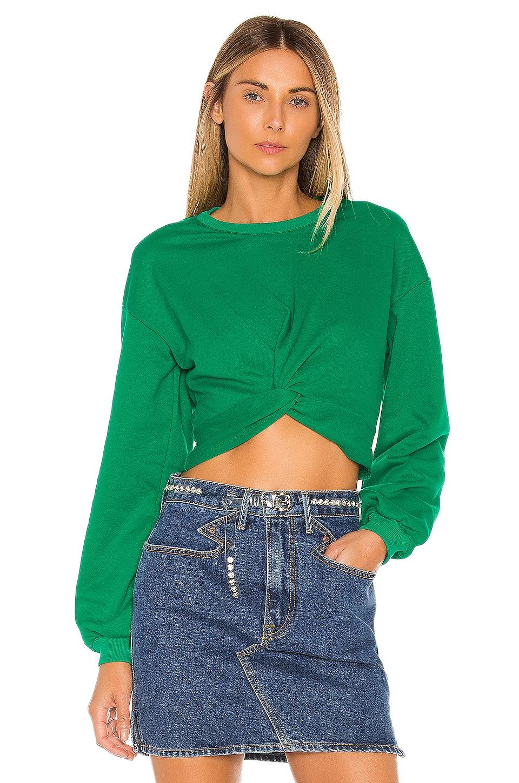 Lovers + Friends Kathy Cropped Sweatshirt in Green