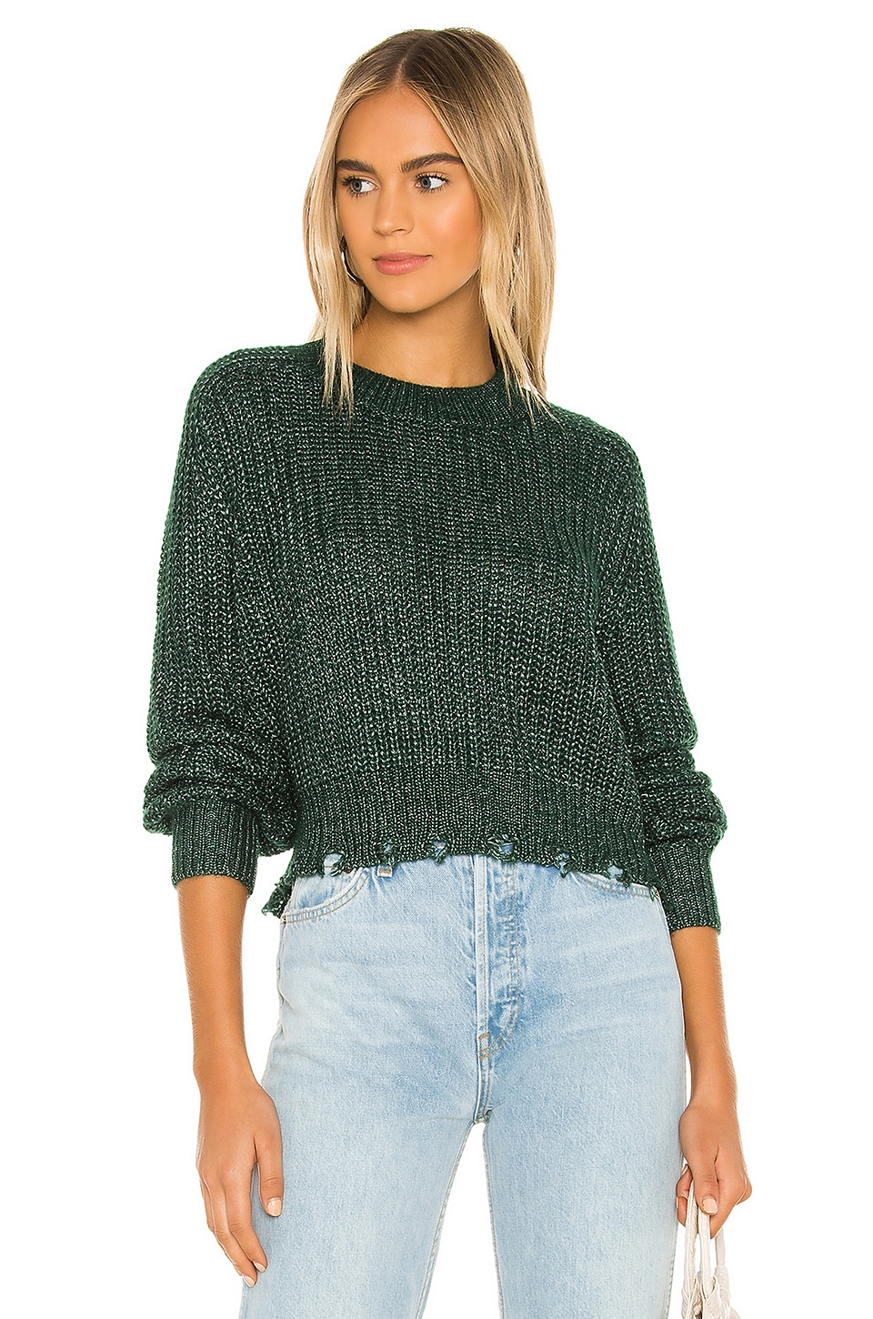 Lovers + Friends Odessa Sweater in Green