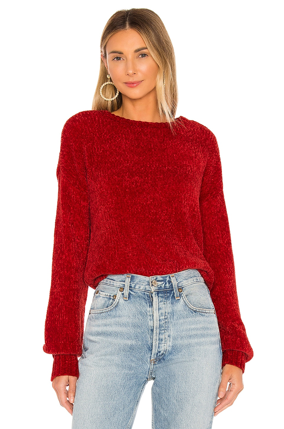 Lovers + Friends Riner Sweater in Red