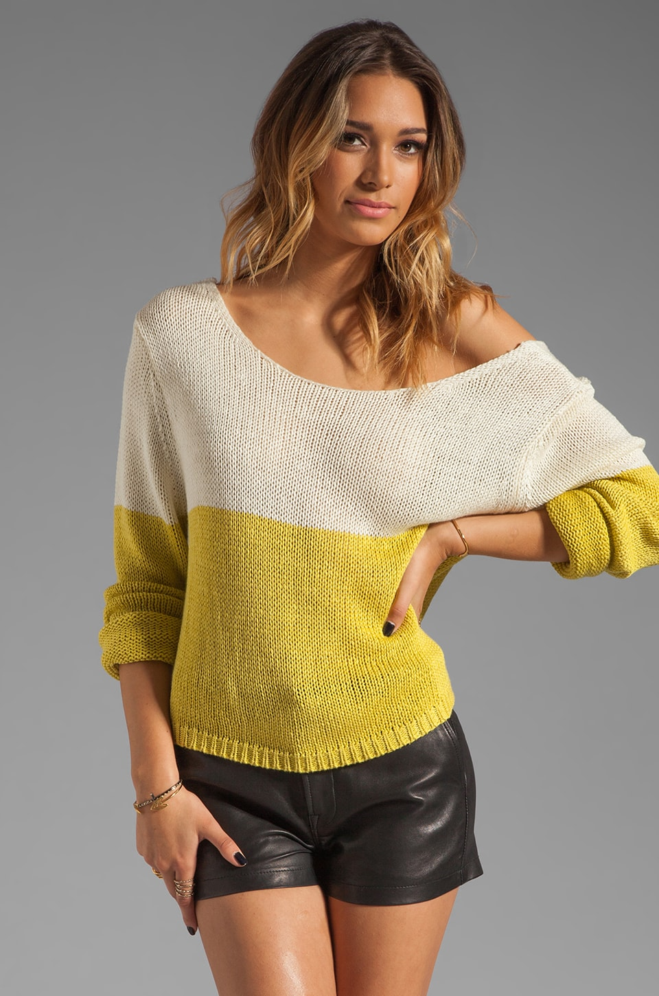 Lovers + Friends Sweet Escape Sweater in Citrus