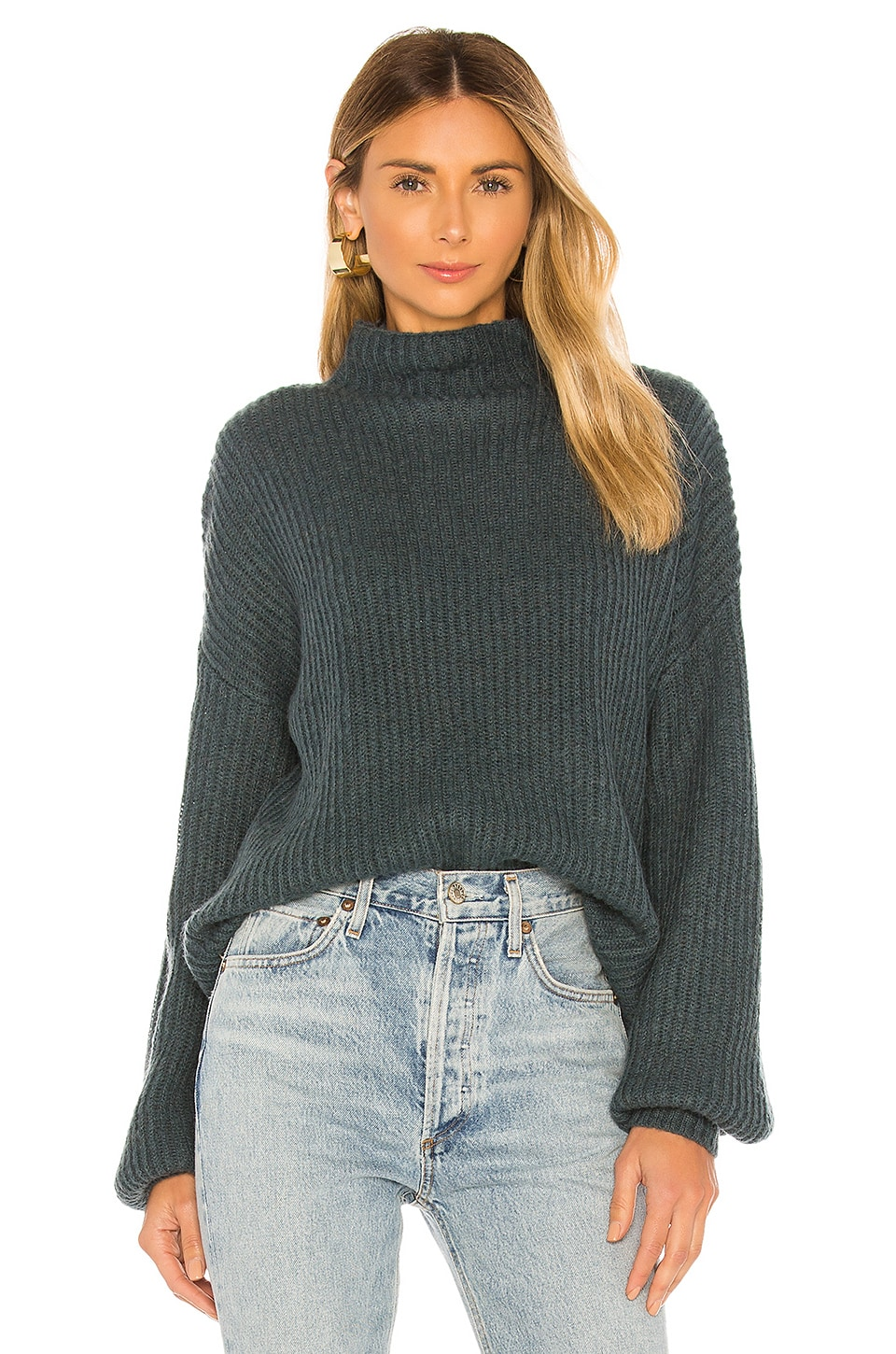 Lovers + Friends Maddock Turtleneck in Dark Green