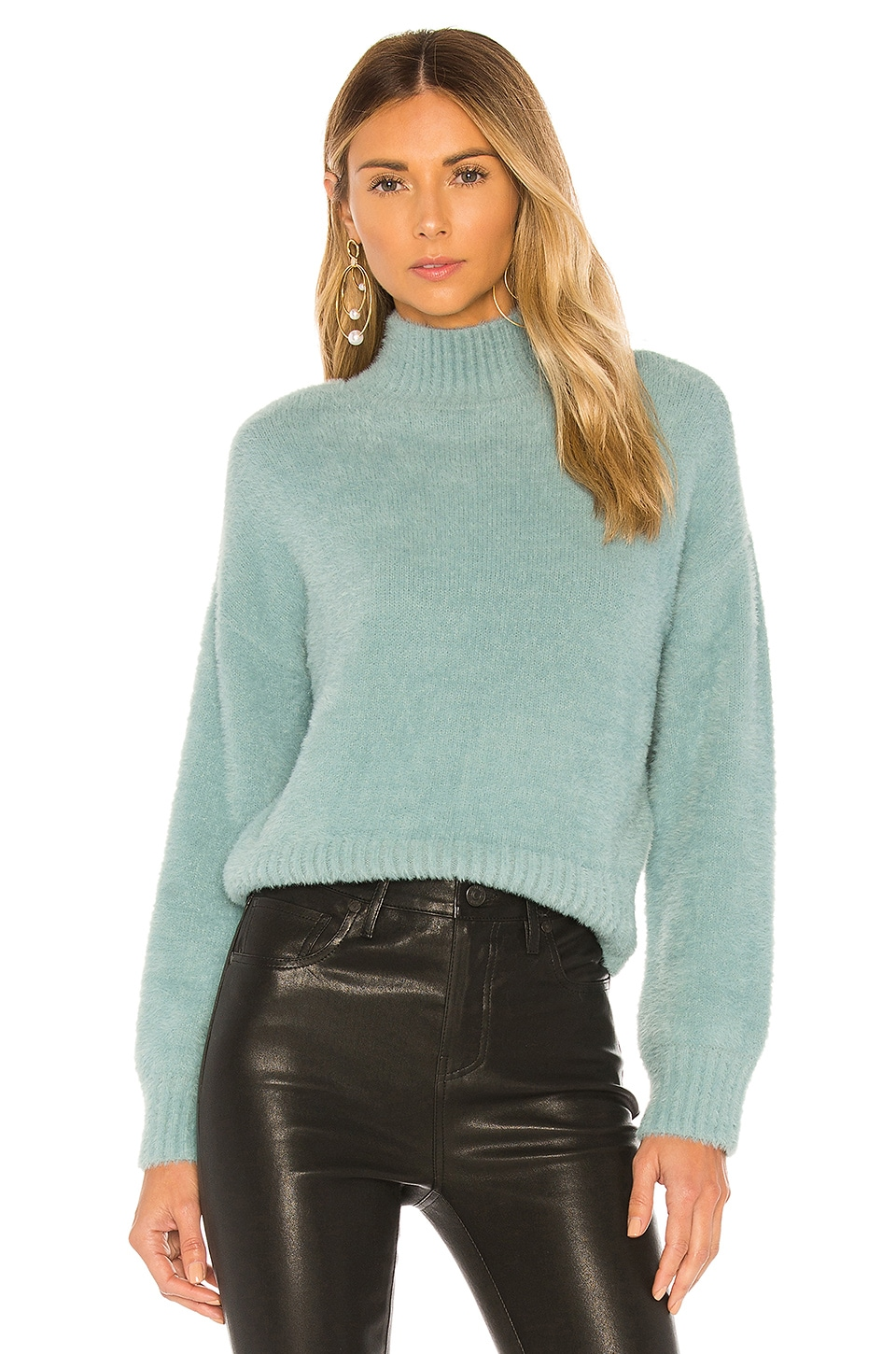 Lovers + Friends Maelie Sweater in Aqua