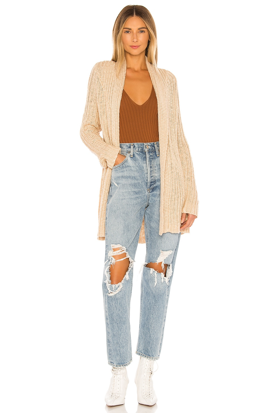 Lovers + Friends Dane Cardigan in Neutral