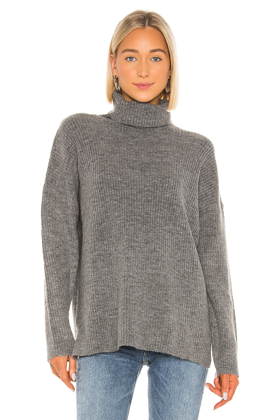 Lovers + Friends Cats Cradle Turtleneck in Grey