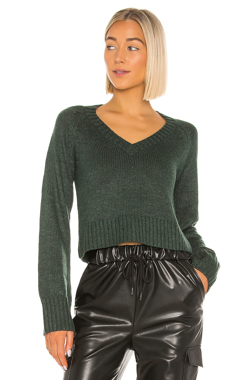 Lovers + Friends Jansen Sweater in Dark Green