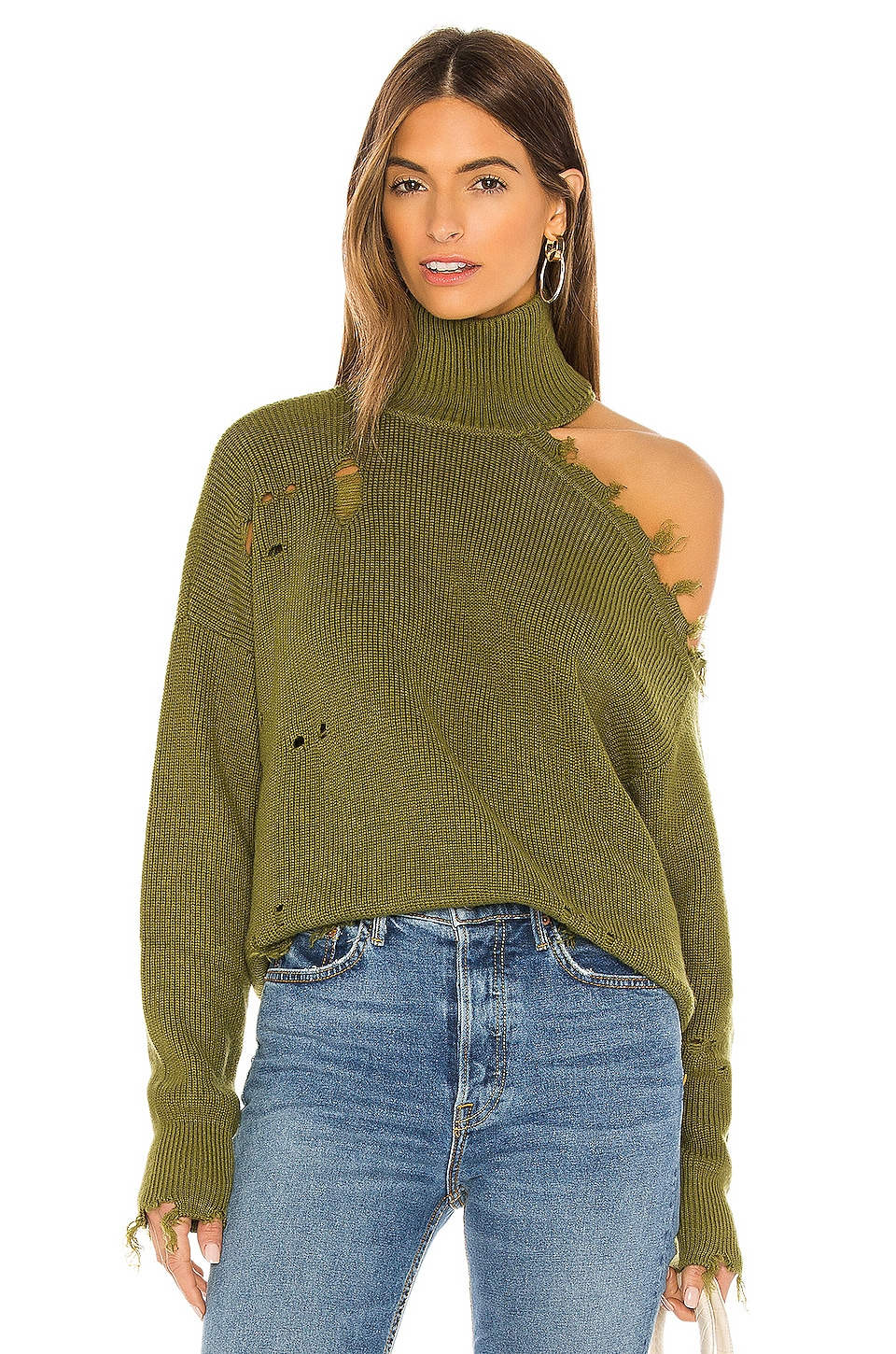 Lovers + Friends Arlington Sweater in Green