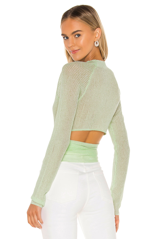 Lovers + Friends Amery Sweater in Mint Green