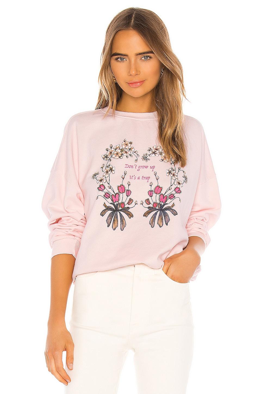 Lovers + Friends Lovers Bowery Sweatshirt in Pink