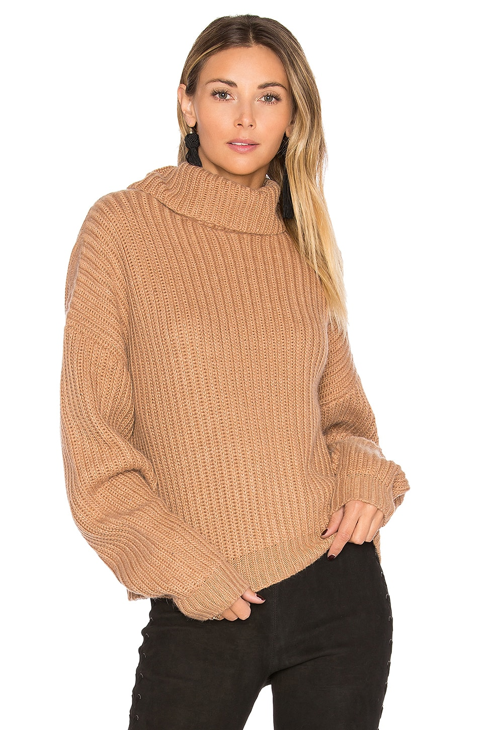 Lovers + Friends On The Road Sweater in Camel
