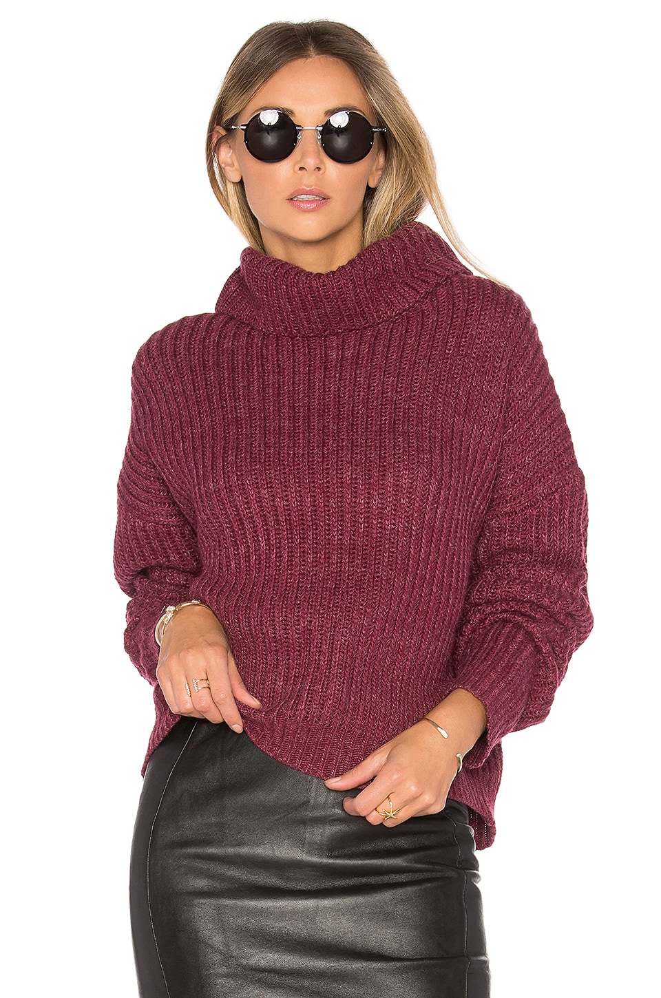 Lovers + Friends On the Road Sweater in Burgundy