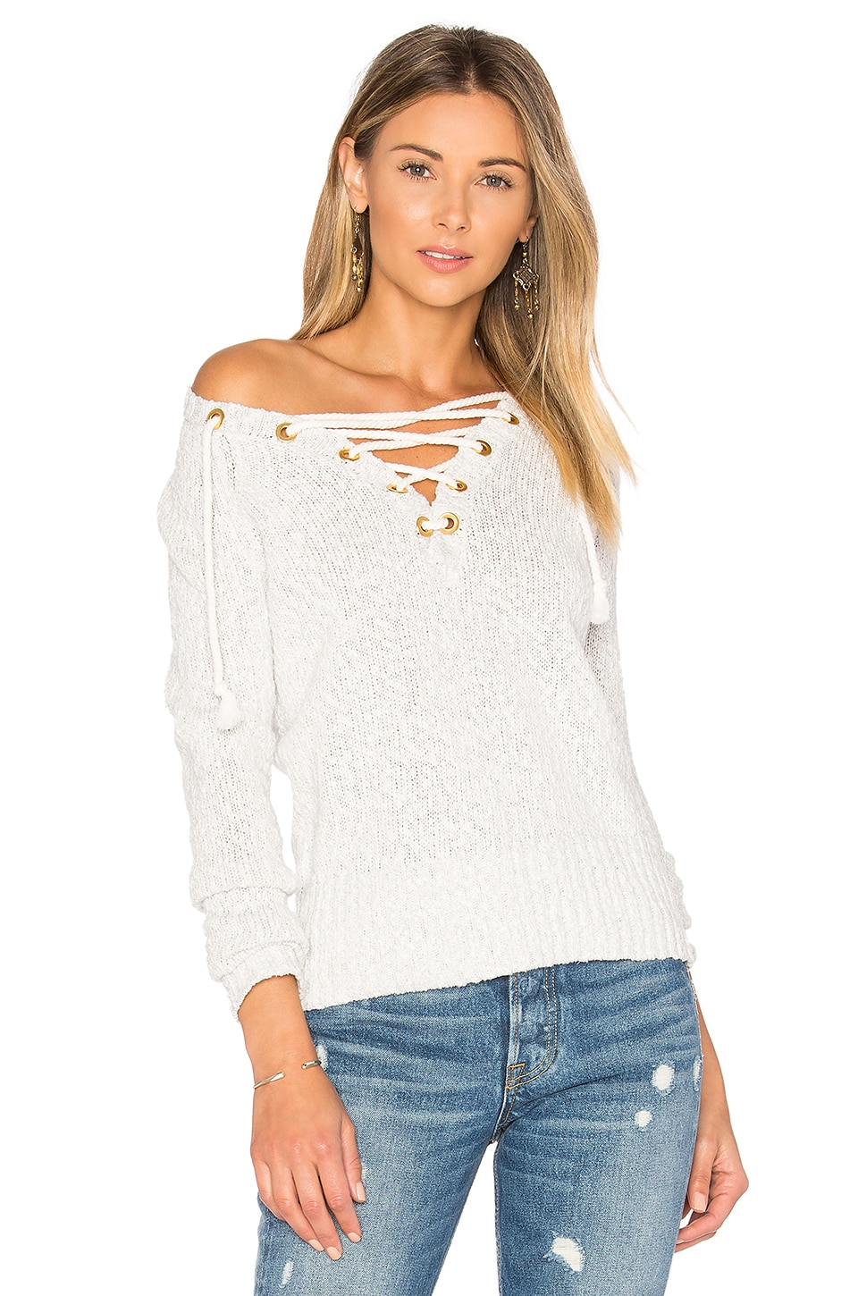 Lovers + Friends Yacht Sweater in Taupe