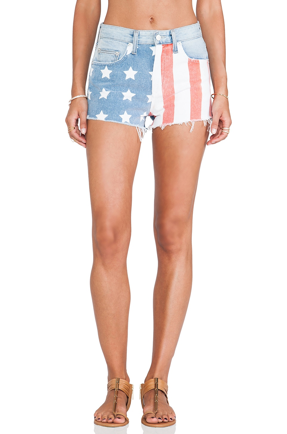 Lovers + Friends Americana Cut Off Shorts in Denim