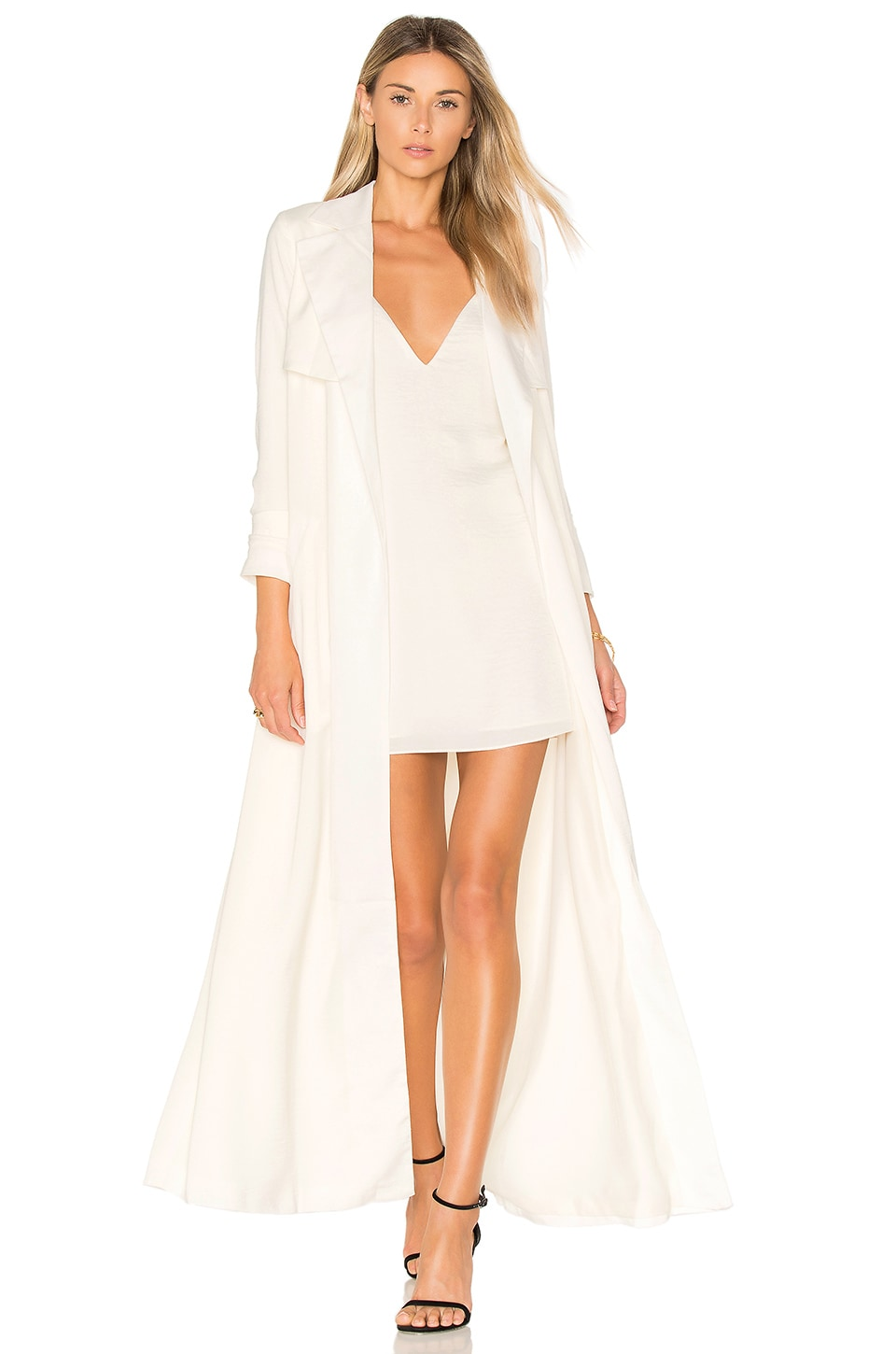 Lovers + Friends x REVOLVE Late Evening Trench in Bone