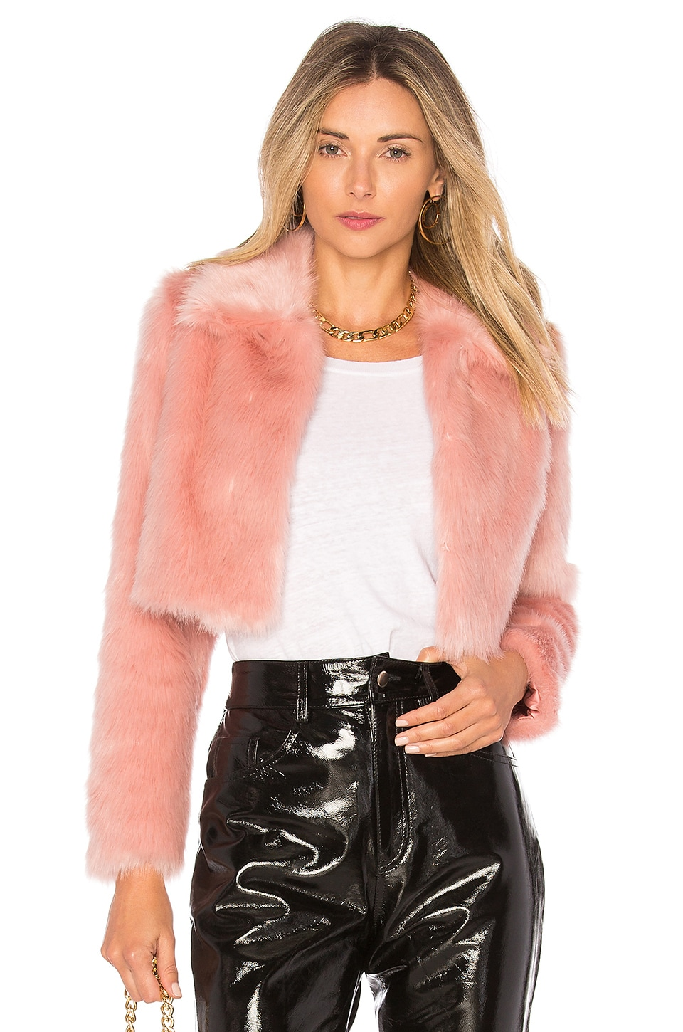 Lovers + Friends x REVOLVE Dixie Fur Jacket in Blush Nude
