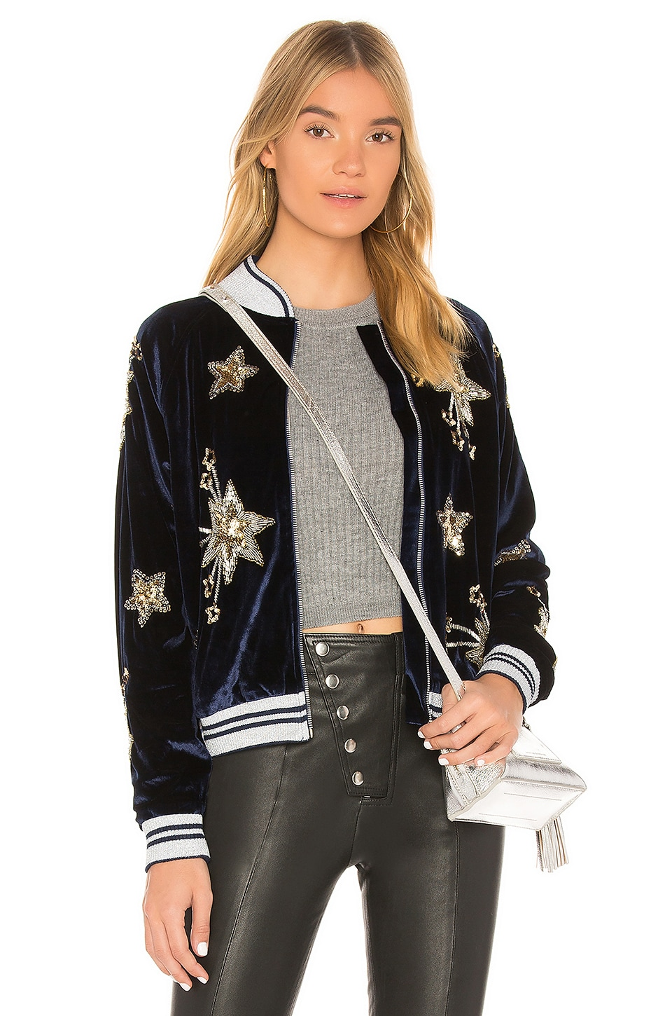 Lovers + Friends x REVOLVE The Starry Bomber in Navy