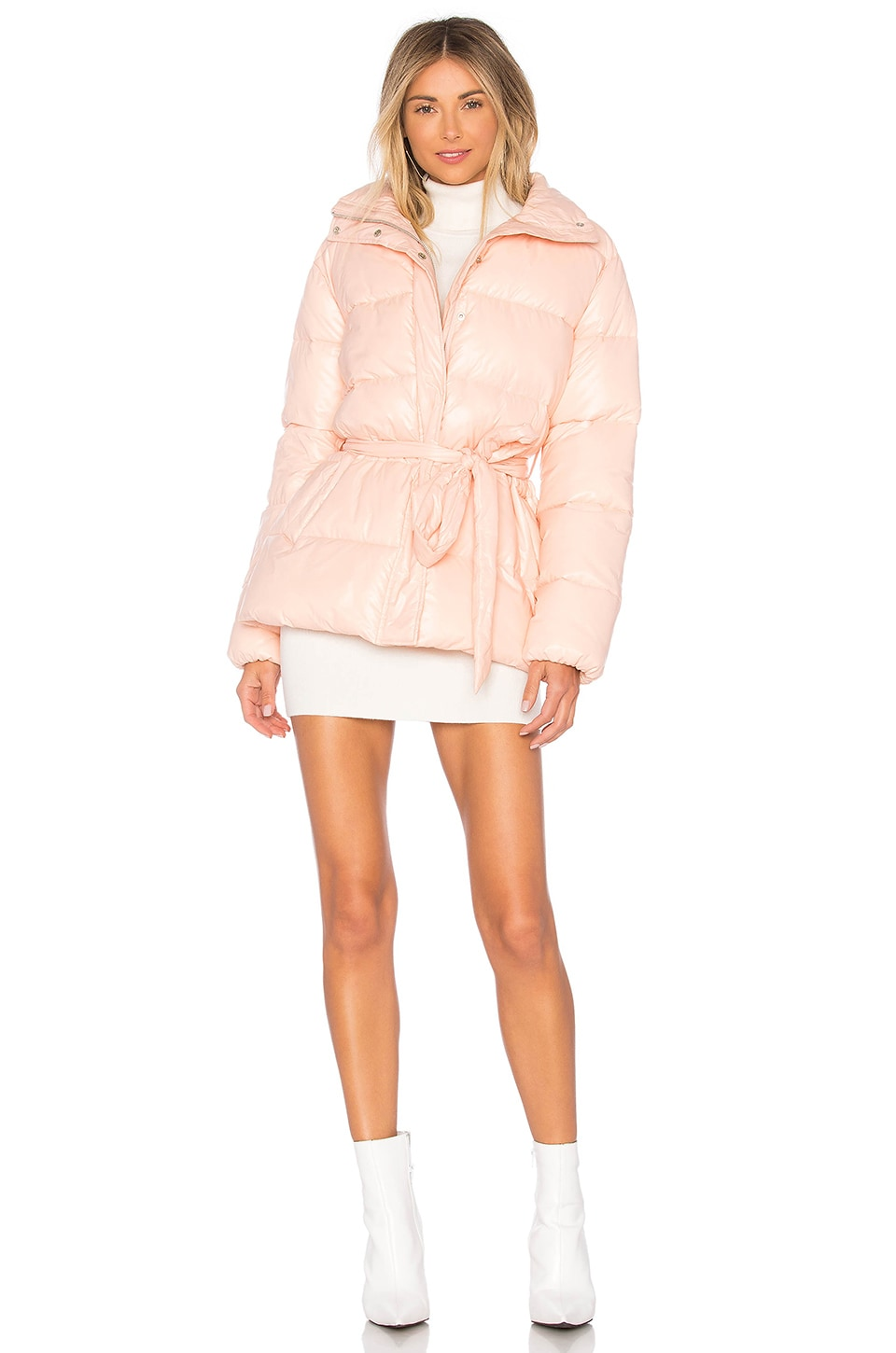 Lovers + Friends Cold Night Puffer in Blush