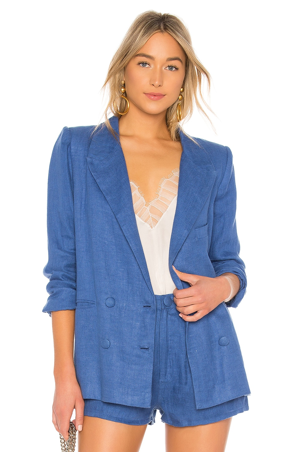 Lovers + Friends Fanning Blazer in Blue