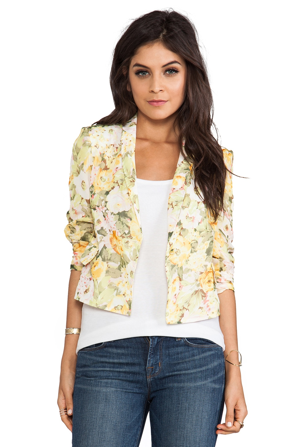 Lovers + Friends Wine & Dine Blazer in Floral