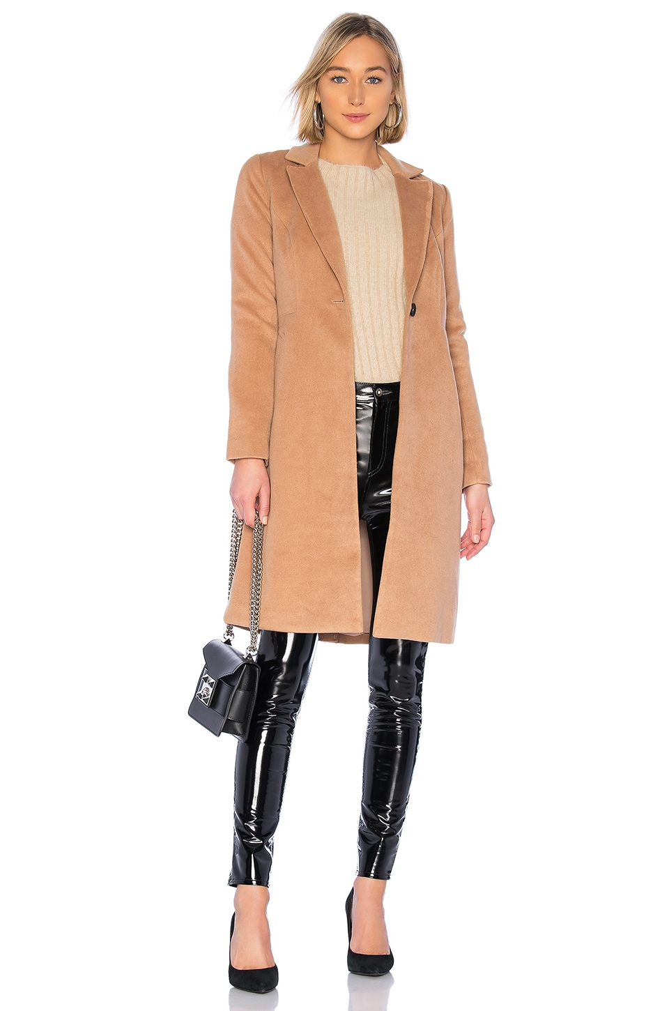 Lovers + Friends Storm Coat in Camel