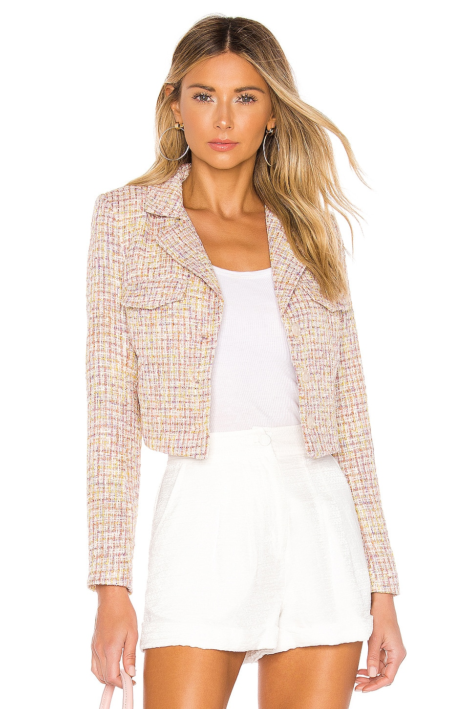 Lovers + Friends Noela Blazer en Pink Tweed