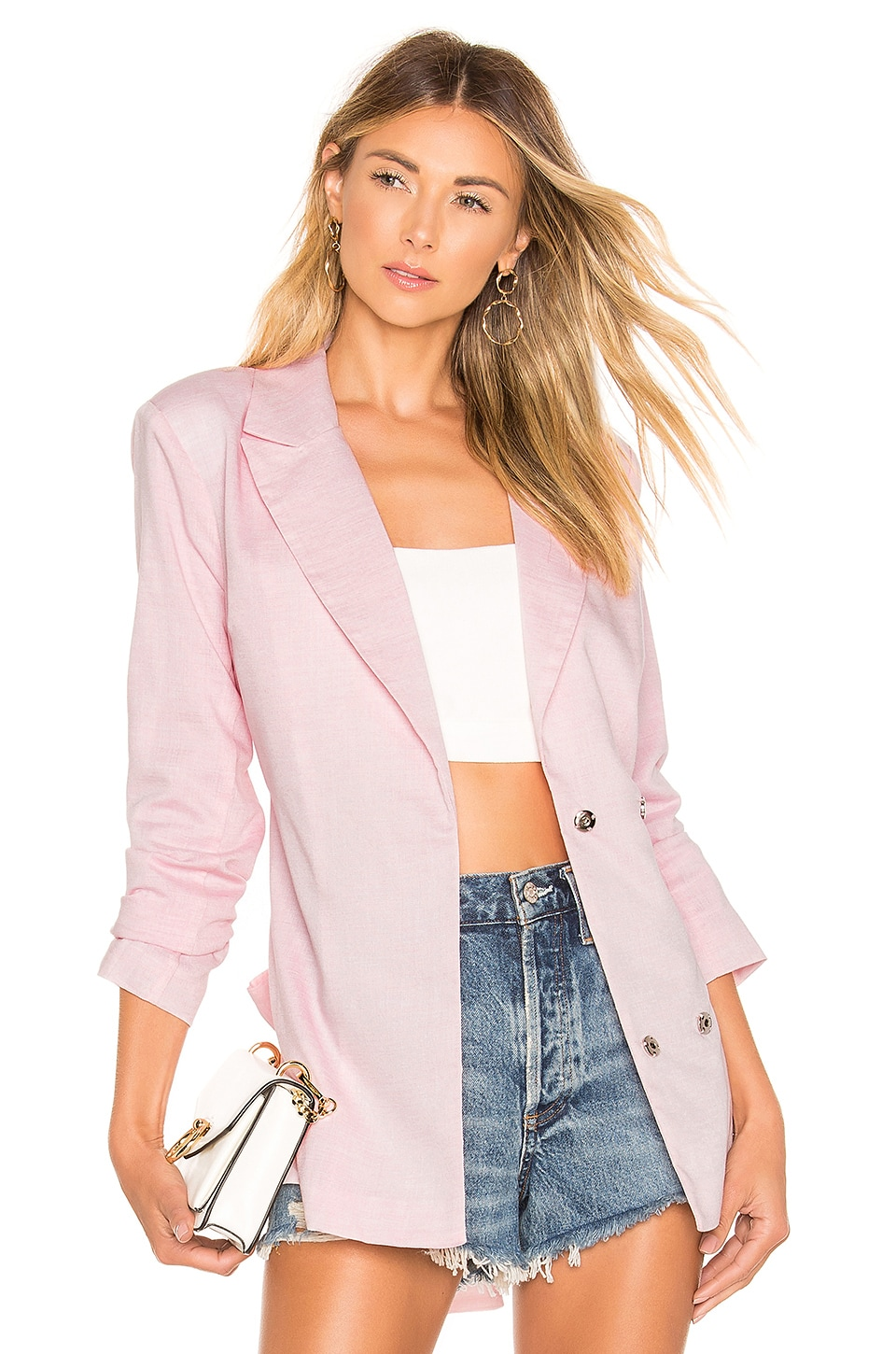 Lovers + Friends Tilda Jacket in Light Pink