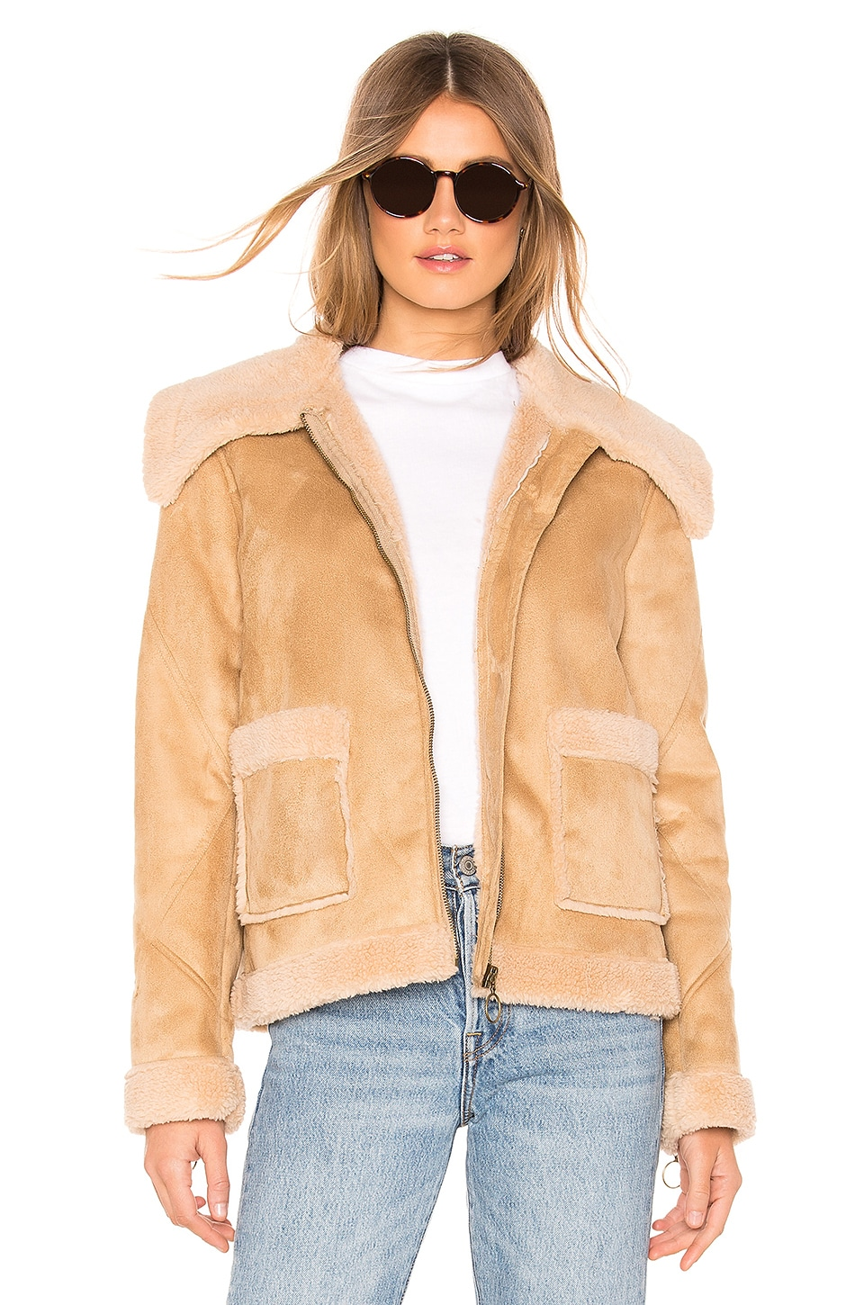 Lovers + Friends Finn Coat in Camel