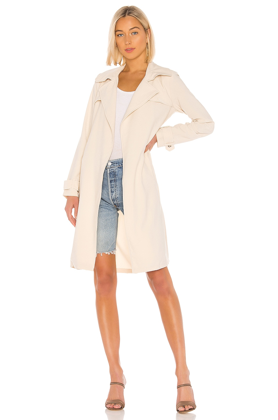 Lovers + Friends Jackie Trench en Khaki