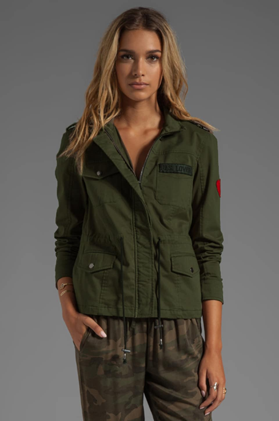Lovers + Friends for REVOLVE Jane Cargo Jacket in Army Green
