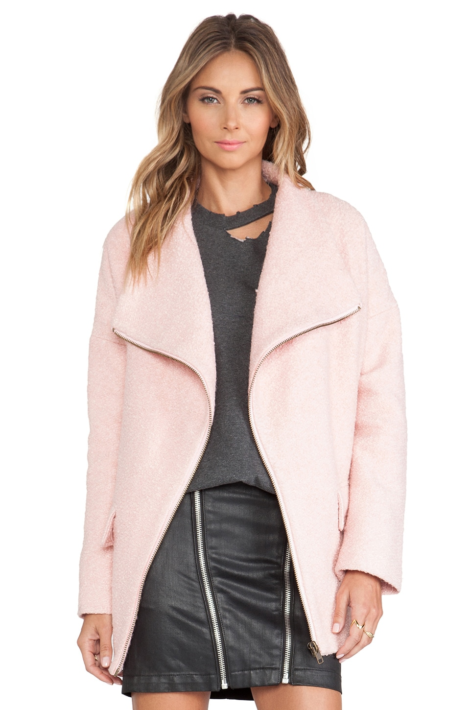Lovers   Friends Merci Coat in Powder Pink | REVOLVE