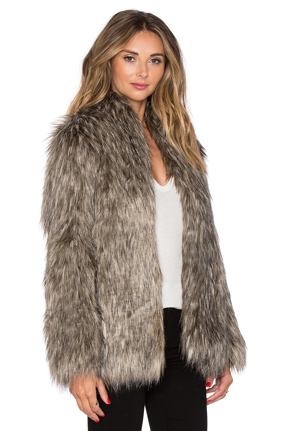 Lovers   Friends Selena Faux Fur Coat in Brown | REVOLVE