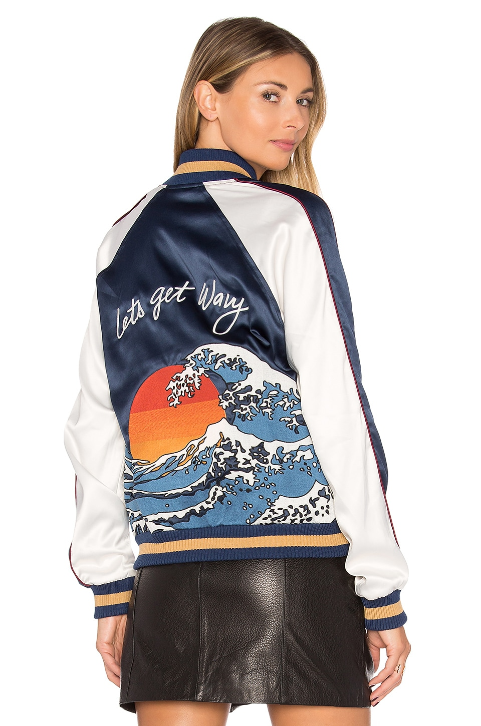 Lovers + Friends x REVOLVE The Exclusive Bomber in Wavy