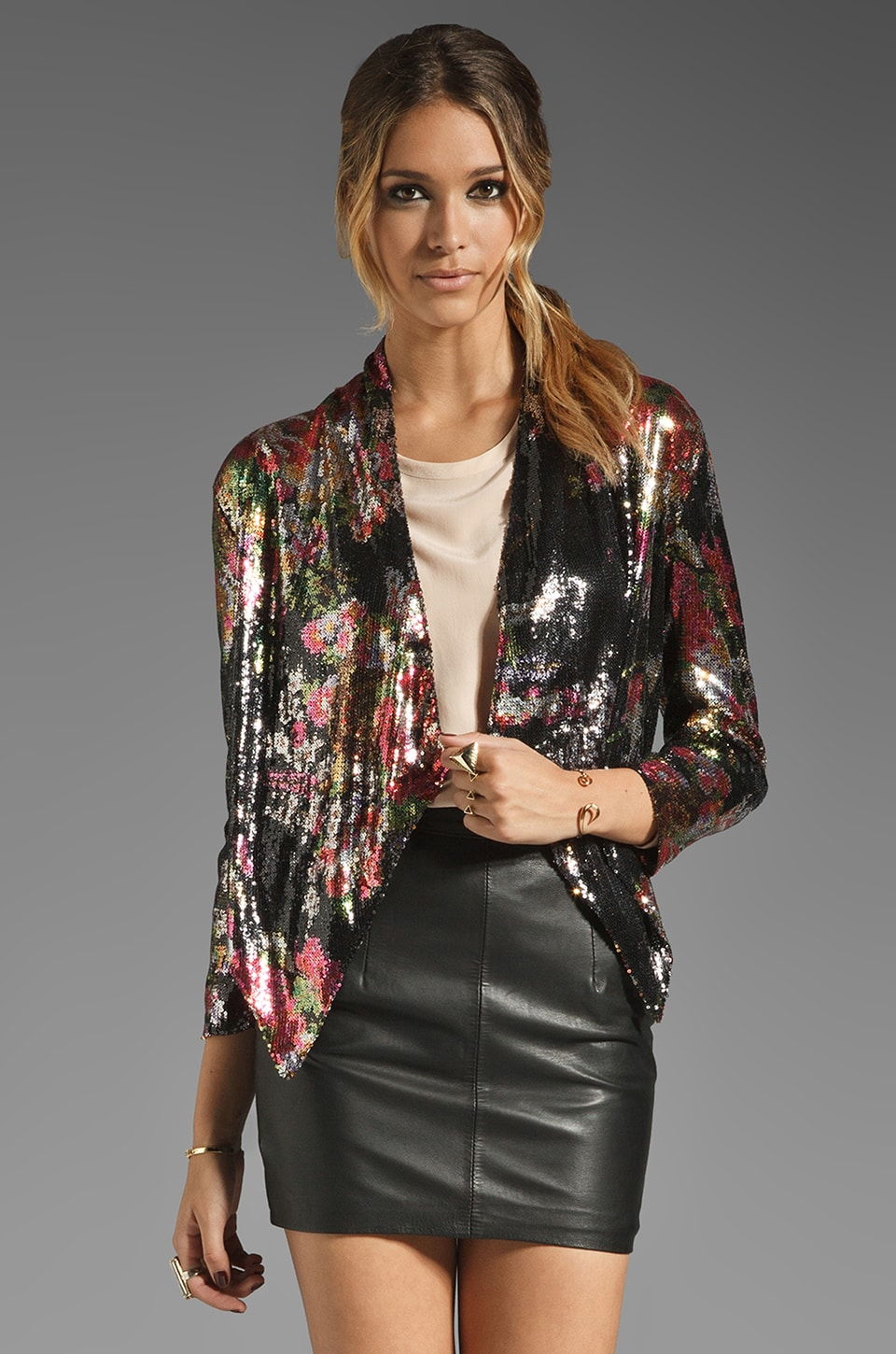 Lovers + Friends At First Sight jacket in Floral Sequin