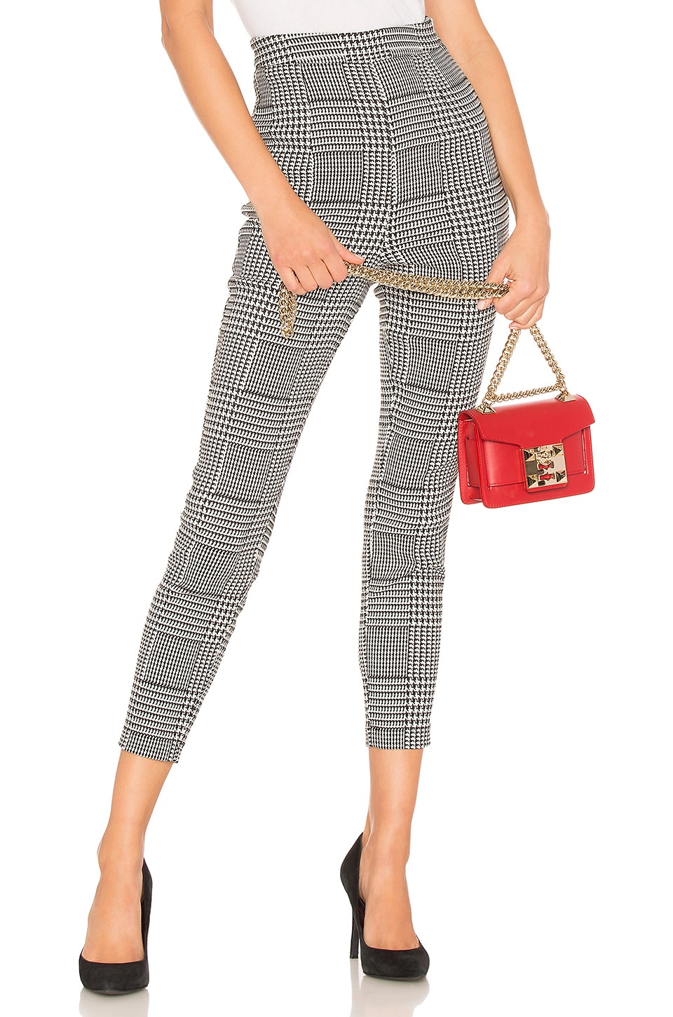 Lovers + Friends Vivace Skinny Pant in Houndstooth Plaid