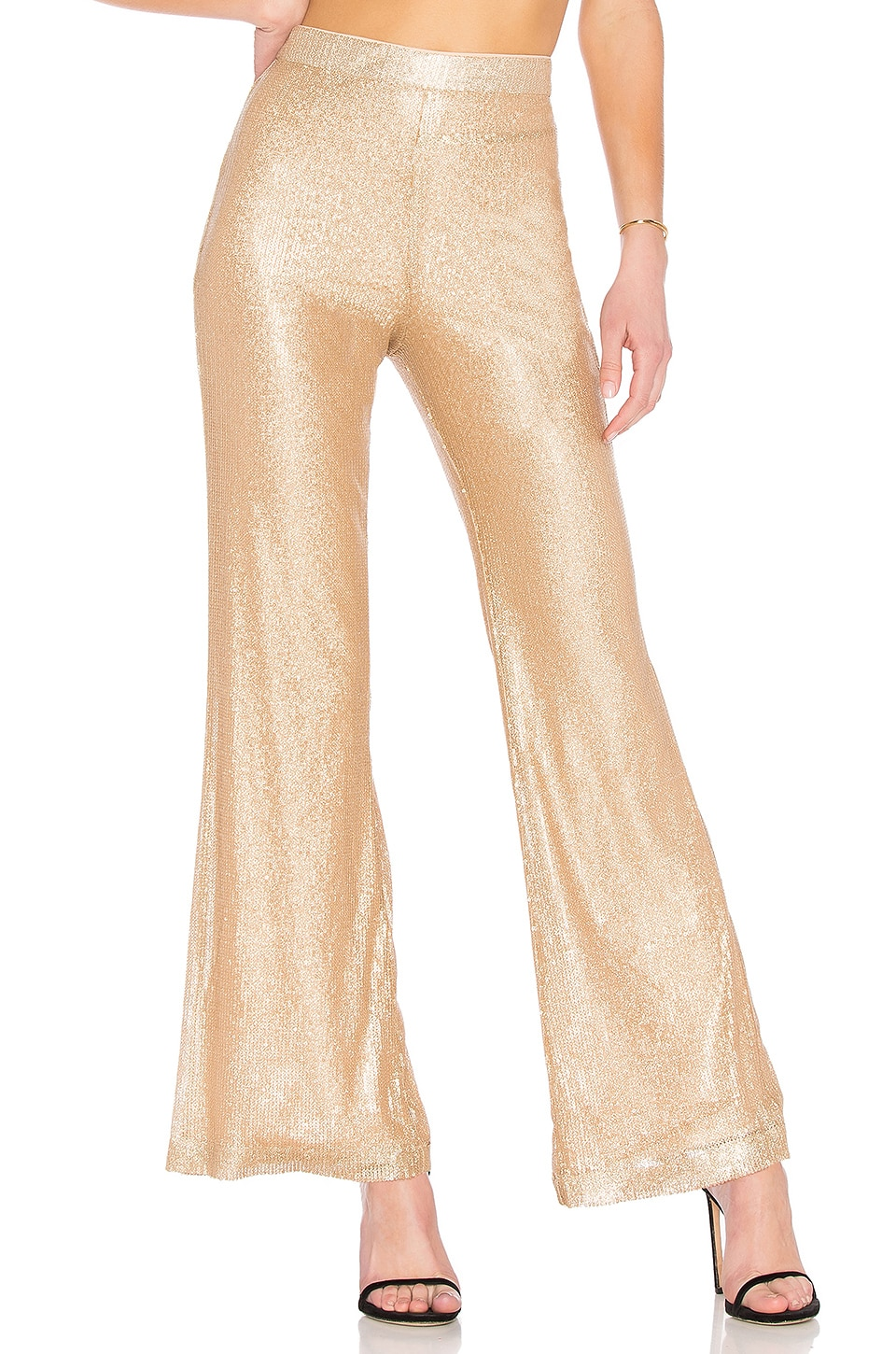 Ballad Pant in Metallic Gold. - size M (also in S,XS,XXS) Lovers + Friends